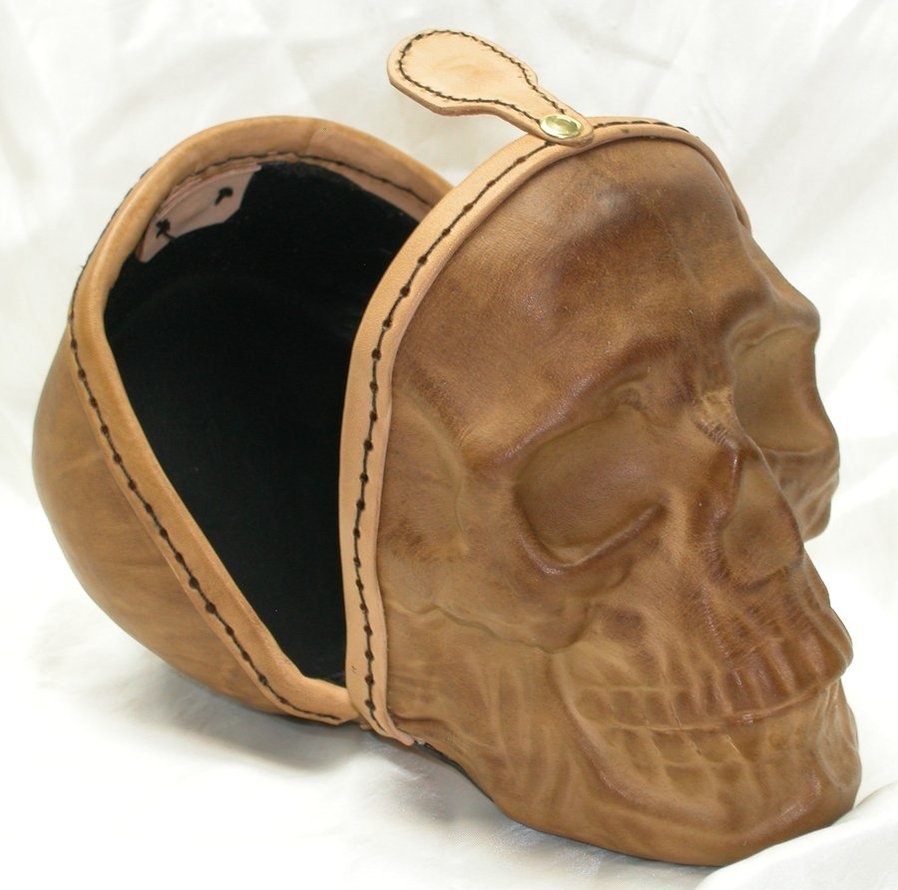 Bilderesultat for leather skull purse
